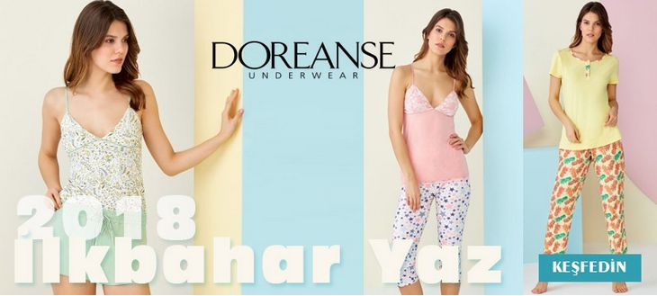 Doreanse 2018 İlkbahar Yaz Bay Bayan Ev Giyim