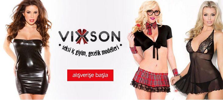 Vixson seksi iç giyim, erotik iç giyim ve gecelik modelleri icgiyimozel.com da