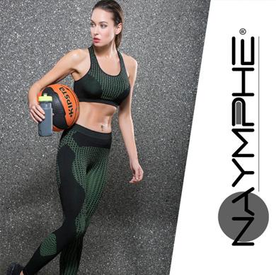 Naymphe 2018 Sporcu Fitness Tayt Sütyen ve Tayt Atlet Takımları