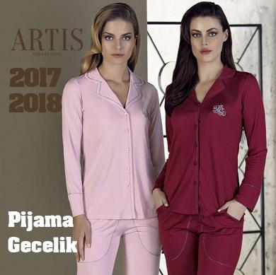 Artış 2017-2018 Sonbahar Kış Bayan Pijama ve Gecelik Koleksiyonu