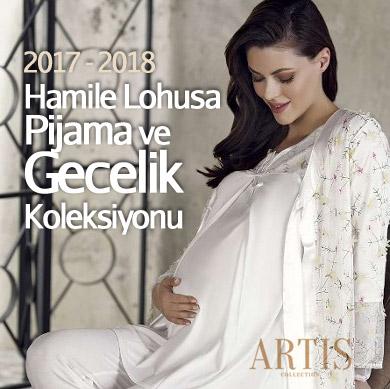 Artış 2017-2018 Sonbahar Kış Hamile Lohusa Pijama ve Gecelik Koleksiyonu
