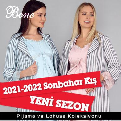 Bone Club 2021-2022 Sonbahar Kış Pijama Hamile Koleksiyonu