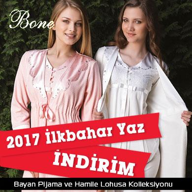 Bone Club 2017 İlkbahar Yaz Bay Bayan Pijama ve Hamile Lohusa Kolleksiyonu