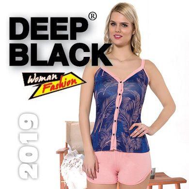 Deep Black 2019 Bayan Piajam Gecelik Takımları