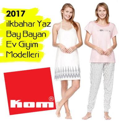 Kom 2017 İlkbahar Yaz Bay Bayan Takım ve Ev Giyim Modelleri