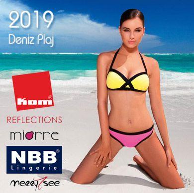 2019 Deniz Plaj Modası - Mayo Bikini Şort Pareo Taytkini