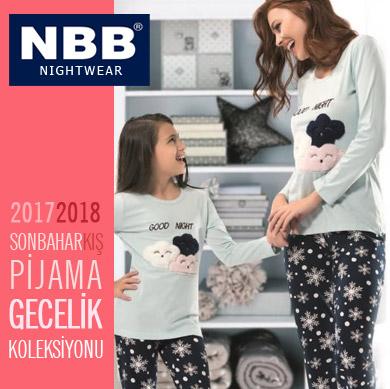 NBB 2017-2018 Sonbahar Kış Bayan Kız Çocuk Pijama Takımları ve Gecelik Koleksiyonu