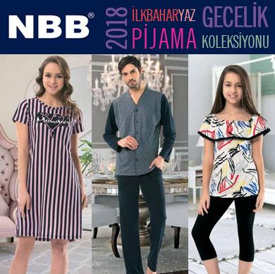 NBB 2018 İlkbahar Yaz Erkek, Kadın, Kız Çocuk Pijama Koleksiyonu