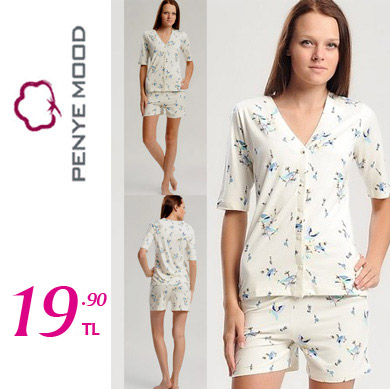 Penye Mood Viskon Pijama Takım 29 TL
