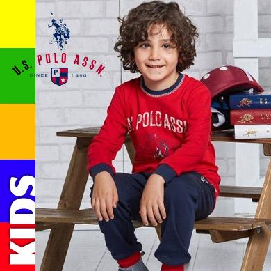 US POLO 2017-2018 Sonbahar Kış Kız ve Erkek Çocuk Pijama Koleksiyonu