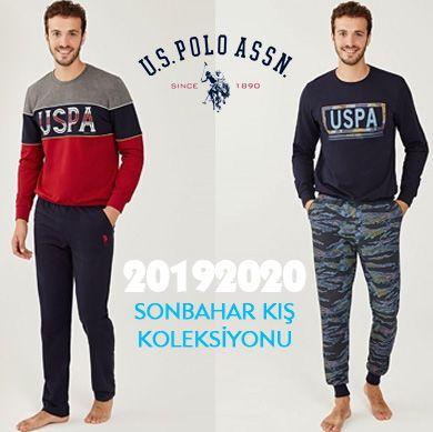 US POLO 2019-2020 Sonbahar Kış Erkek Pijama Koleksiyonu