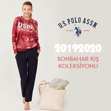 US POLO 2019-2020 Sonbahar Kış Kadın Pijama Koleksiyonu