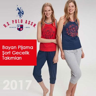 US POLO Bayan Pijama Şort ve Gecelik Takımları 2017
