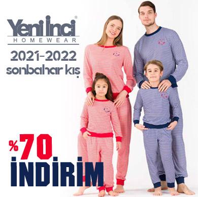 Yeni İnci 2021-2022 Sonbahar Kış Pijama Takımları