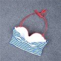 Angelsin Mavi Cizgili Şık Bikini Takım