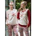 Bayan 2 Li Pijama Takımı Sincaplı (Uyku Gözlüğü Hediye) Feyza 3155