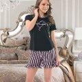 Bayan Kısa Kol T-Shirt - Şort Pijama NBB 66319