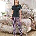 Bayan Kısa Kol T-Shirt - Uzun Alt Pijama NBB 66318