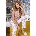 Bayan Pijama Takımı 2 Li Süprem Karamel Yeni İnci BPJ1176