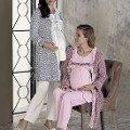 Bayan Pijama Takımı 3 Lü Lohusa Top Peluşlu Artış 2303