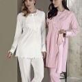 Bayan Pijama Takımı 3 Lü Okyanus Desen Artış 2316