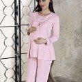 Bayan Pijama Takımı Lohusa Şardonlu İnterlok Artış 2210