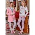 Bayan Sabahlıklı Pijama 3 Lü Takımı Berrak 404