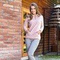 Bayan Sweatshirt Pijama Takım Anıl 9480