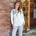 Bayan Sweatshirt Pijama Takım Anıl 9499