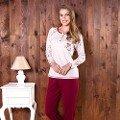 Bayan T-Shirt Pijama Takım Anıl 9477