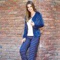 Bayan T-Shirt Yelek Pijama Takım Anıl 9474