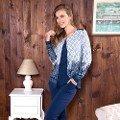 Bayan T-Shirt Yelek Pijama Takım Anıl 9481