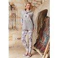 Bayan Uzun Kollu Pijama Takımı Boğazlı Berrak 398