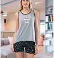 Bayan Yıldız Askılı Şortlu Pijama Takımı NBB 66092