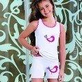Berrak Kız Kuş Baskılı Atlet 2547