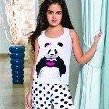 Berrak Kız Panda Baskılı Takım 6504