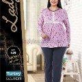 Büyük Beden Kadın Pijama Takım Lady 126