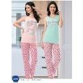 Çilek Baskılı Askılı Uzun Pijama Takımı NBB 66081