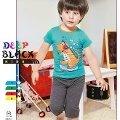Deep Black 453 Erkek Çocuk Kapri Pijama Takım