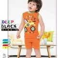 Deep Black 460 Şortlu Erkek Çocuk Pijama Takımı