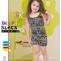 Deep Black 464 Askılı Şortlu Kız Çocuk Pijama Takımı