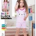 Deep Black 466 Askılı Şortlu Kız Çocuk Pijama Takımı