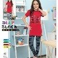 Deep Black 468 Kız Çocuk Tayt Pijama Takım