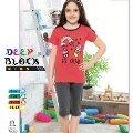 Deep Black 475 Kız Çocuk Kapri Pijama Takımı