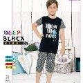 Deep Black 478 Kapri Pijama Takım Erkek Çocuk