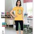 Deep Black 480 Kız Çocuk Kapri Pijama Takımı