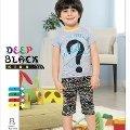 Deep Black 487 Erkek Çocuk Kapri Pijama Takım