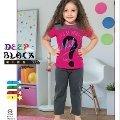 Deep Black 496 Kız Çocuk Pijama Takımı