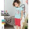 Deep Black 498 Kız Çocuk Kapri Pijama Takımı