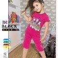 Deep Black 499 Kapri Kız Çocuk Pijama Takımı
